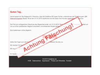 2019-01-22 Vodafone Phishing