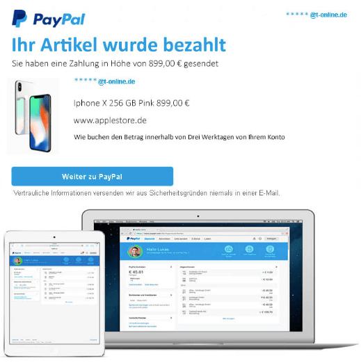 2019-01-27 PayPal Spam Mail Zahlungsbestaetigung