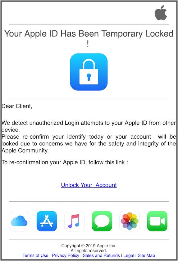 2019-02-04 Apple Phishing