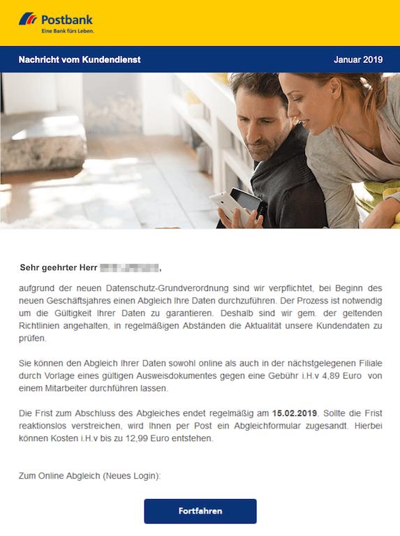 2019-02-06 Postbank Phishing