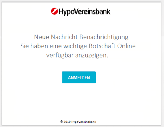 2019-03-05 Hypovereinsbank Phishing