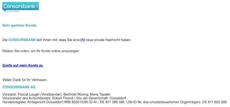 2020-01-14 Consorsbank Spam-Mail Neue Nachricht