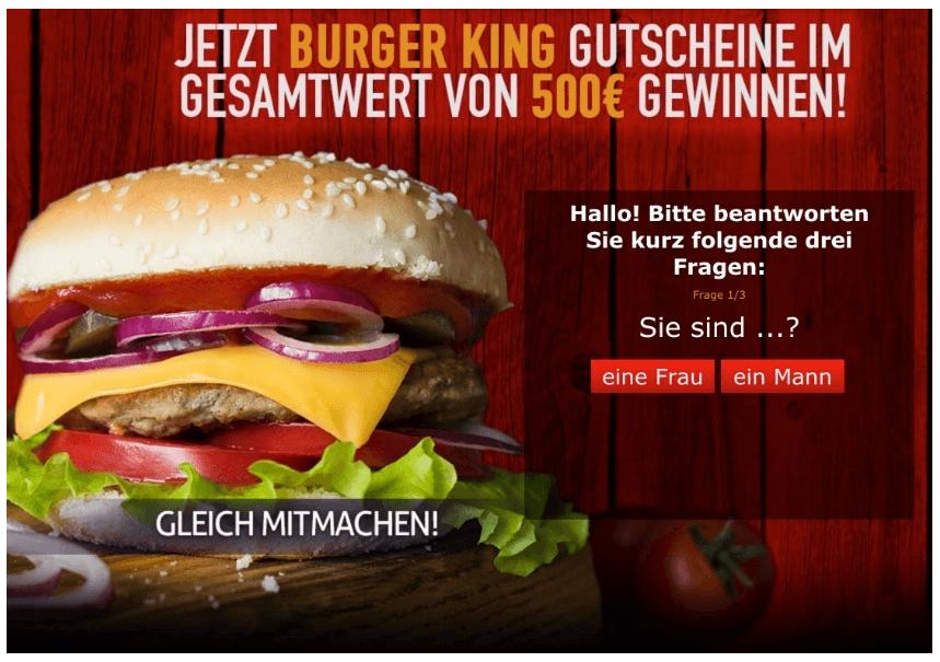500 Euro Gutschein Burger King MyGimi