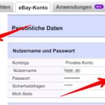eBay Passwort ändern 2