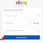eBay Passwort ändern 3