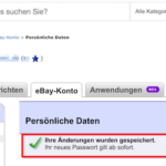 eBay Passwort ändern 4