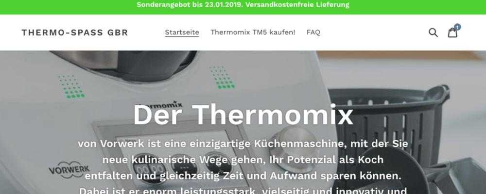 thermo-spass.com: Dieser Fakeshop verkauft keinen Thermomix®