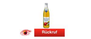 Rückruf Apfelschorle