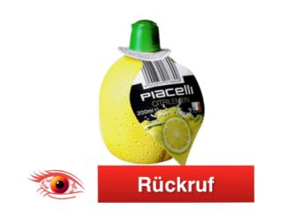 Rückruf Piacelli Zitronensaftkonzentrat