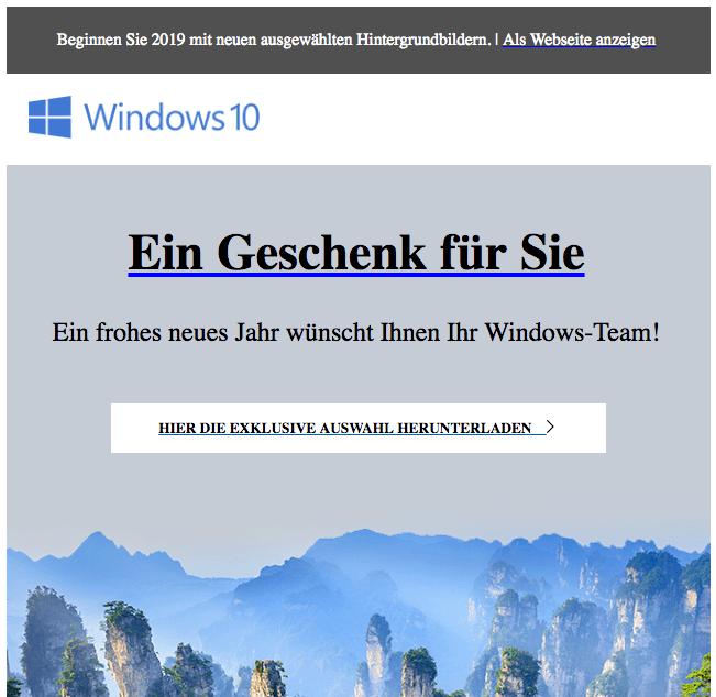 Windows Geschenk Hintergrundbild