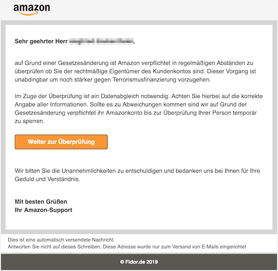 2019-02-03 Amazon Phishing