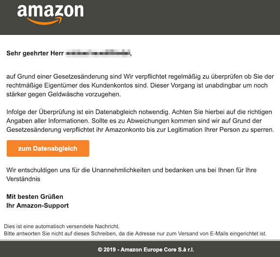 2019-02-03 Phishing Amazon