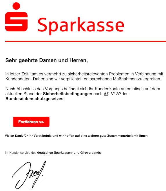 2019-02-03 Sparkasse Phishing