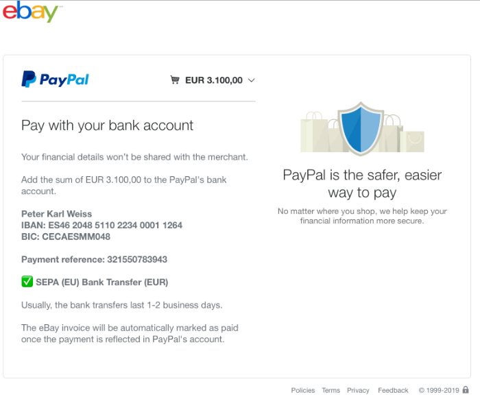 2019-02-06 auction-ebay.com Fake-Seite PayPal-Zahlung
