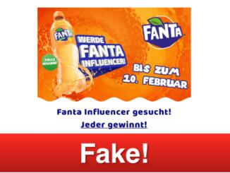 2019-02-07 Fanta Influencer gesucht Gewinnspiel WhatsApp Kettenbrief