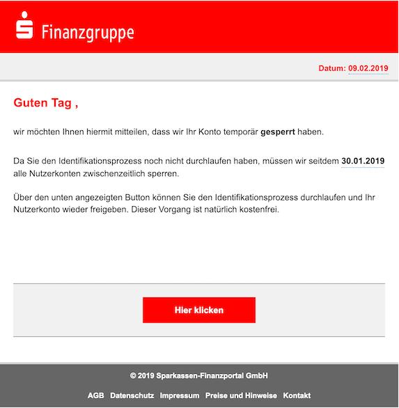 2019-02-09 Sparkasse Phishing