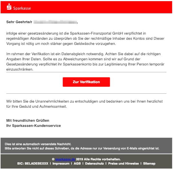 2019-02-12 Sparkasse Spam-Mail Gesetzesaenderung