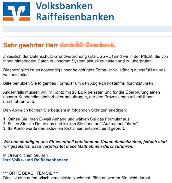 2019-02-13 Volksbank Phishing