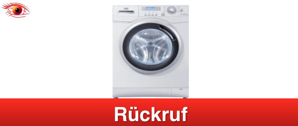 2019-02-14 Haier Waschmaschinen Waschtrockner Brandgefahr Rebaratur notwendig