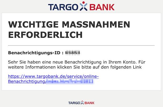 2019-02-14 Targobank Phishing
