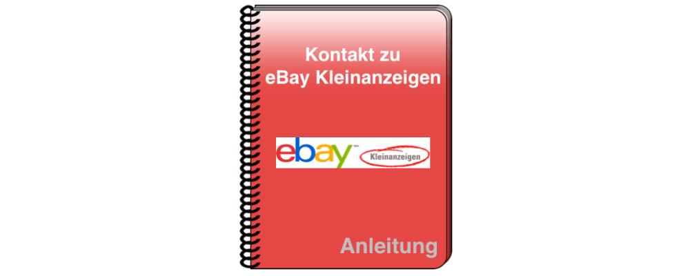 eBay Kleinanzeigen: Kontakt per Telefon, E-Mail oder Kontaktformular