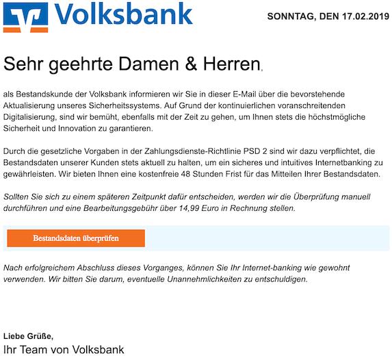 2019-02-17 Volksbank Phishing
