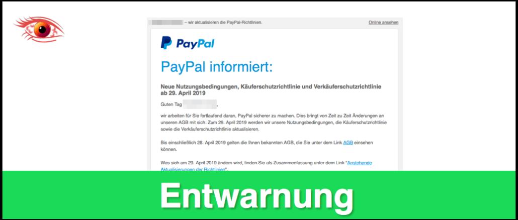 Agb Von Paypal Г¤ndern Sich