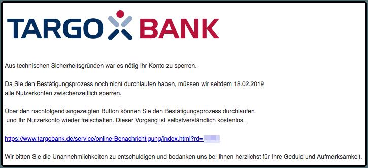 2019-02-19 Phishing Targobank
