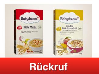 2019-02-22 Rückruf Rossmann Babydream Müsli Kinder