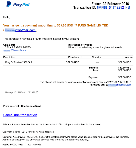 2019-02-23 PayPal Phishing