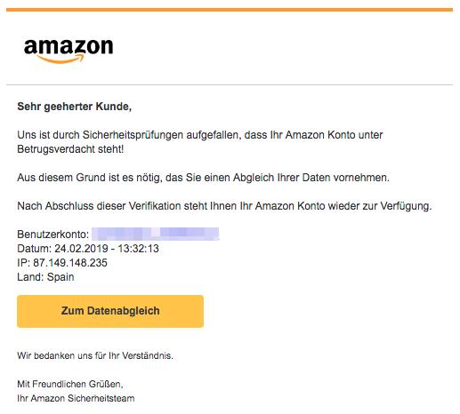 Amazon Phishing Aktuell Gefälschte E Mails Im Umlauf Spam Alarm