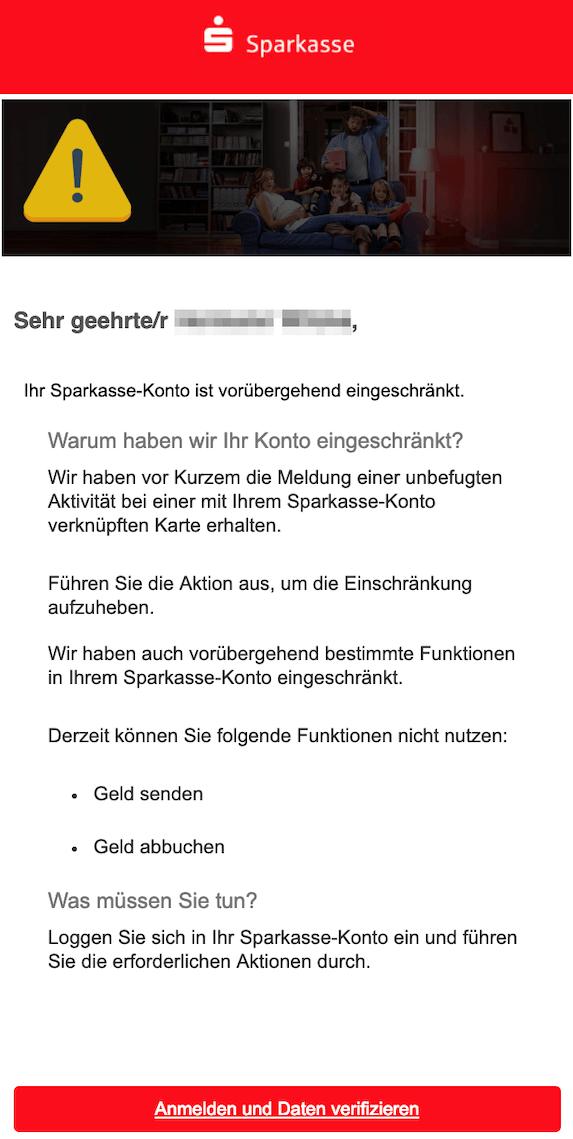 2019-02-25 Sparkasse Phishing