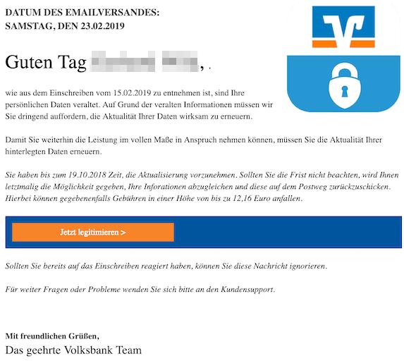 2019-02-25 Volksbank Phishing