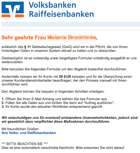 2019-02-26 Volksbank Phishing