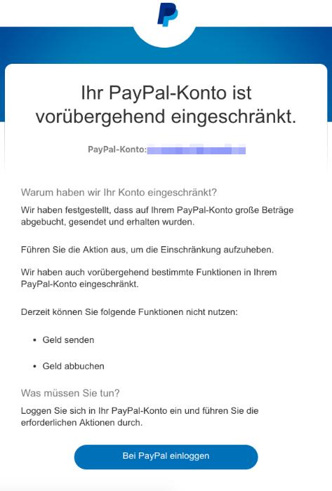 2019-03-04 PayPal Phishing-Mail Ihr PayPal-Konto erfordert Ihre Mitarbeit