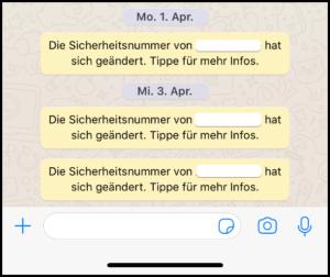 2019-07-01 WhatsApp Sicherheitsnummer hat sich geaendert