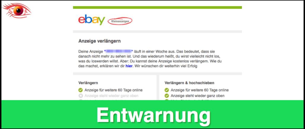 ebay kleinanzeigen abgelaufene anzeigen sehen