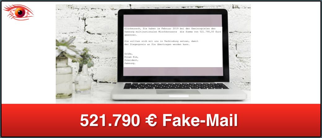 FakeMail im Namen von Samsung