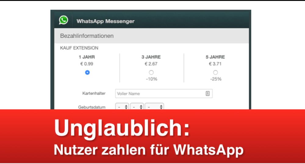 """WhatsApp Phishing: """"Sie müssen Ihr Abonnement erneuern"""" ist Betrug (Update)"""