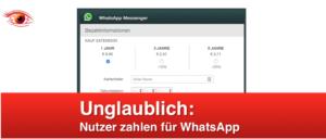 WhatsApp Phishing Fake-Mail Kosten WhatsApp