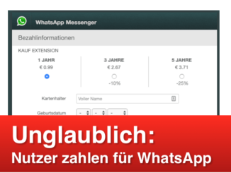 WhatsApp Phishing Fake-Mail Kosten WhatsApp