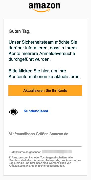 2019-03-06 Amazon Phishing-Mail WMAO-1486399-BDAK