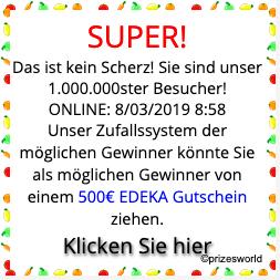 2019-03-08 Dubiose Werbeanzeige Super millionste Besucher