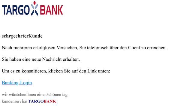 2019-03-13 Targobank Phishing