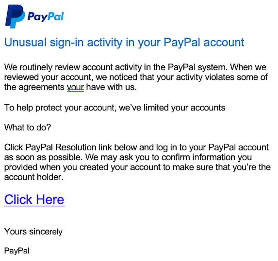 2019-03-14 PayPal Phishing