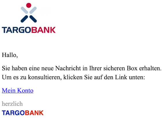 2019-03-14 Targo Bank Phishing
