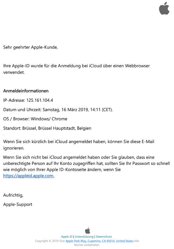 2019-03-17 Apple Phishing