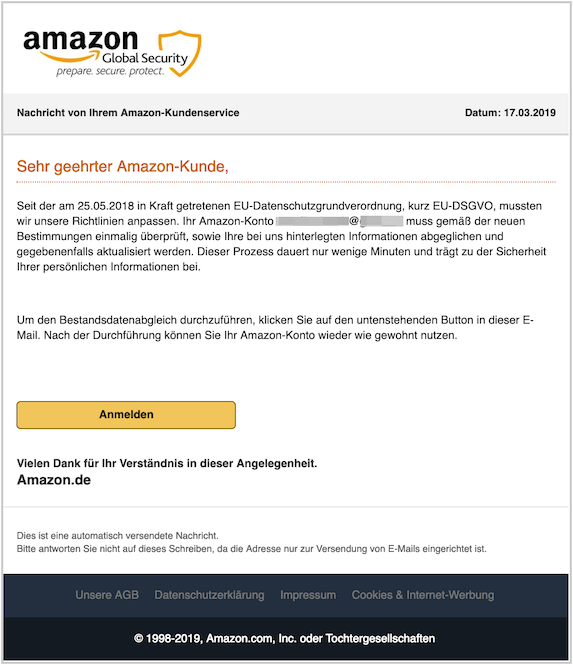 2019-03-17 amazon Phishing