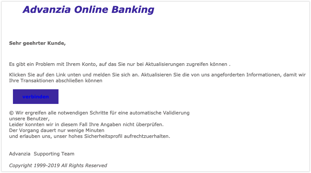 2019-03-18 Phishing Advanzia Bank