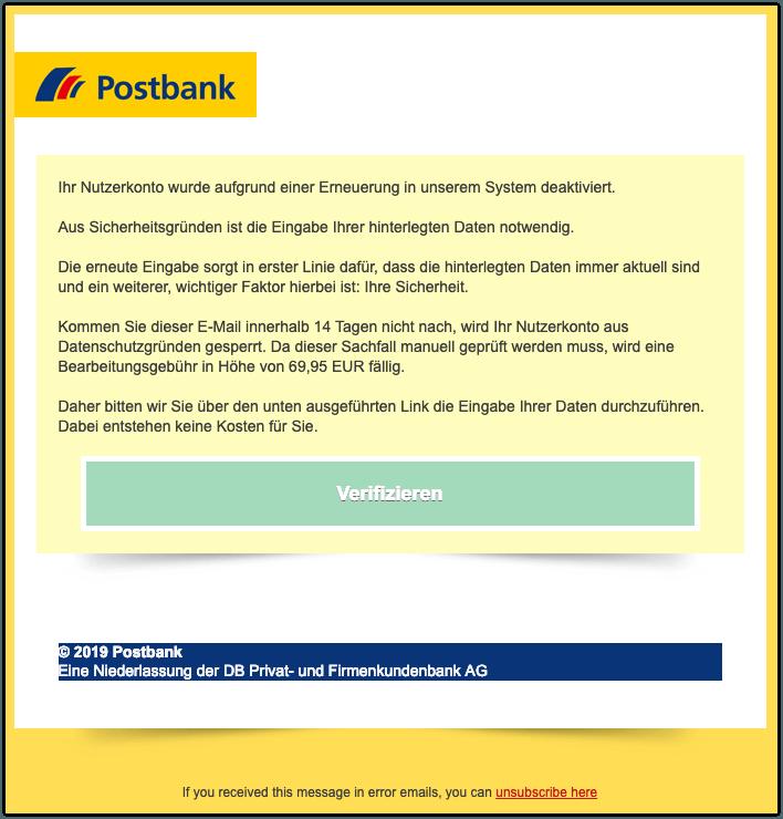 2019-03-18 Phishing Postbank